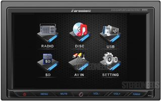 "Farenheit TI 762 Car 2 Double DIN 7"" Touchscreen Monitor CD  DVD USB Player"