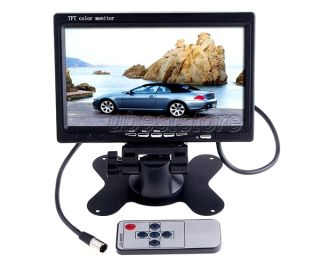 "7"" TFT LCD Screen Car Headrest TV Monitor Remote Control 2 Video Input DVD Video"