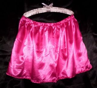Custom Made Adult Sissy Womens Mens Cute CD TV Sexy Hot Pink Satin Mini Skirt