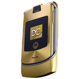 Motorola RAZR V3i Gold Unlocked Cellular Phone GSM Flip Gold Phone