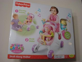 Fisher Price Brilliant Basics Stroll Along Walker New