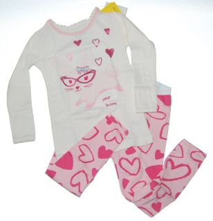 Baby Gap Girls Honey Bunny Glasses Pajamas 4 4T New NIP