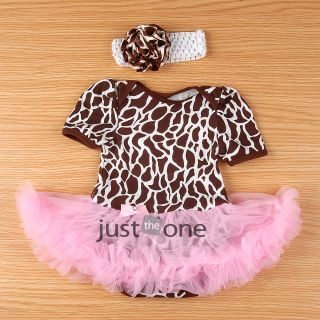 New Lovely Baby Toddler Infant Girl One Piece Ruffles Tutu Romper Jumpsuit Dress