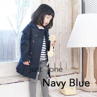 Hot Kids Baby Girls Autumn Casual Outerwear Double Breasted Trench Coat 5 Sizes