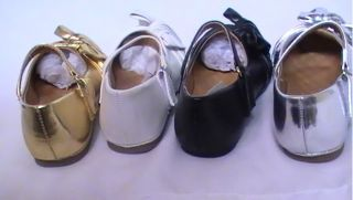 Girls Ballet Flats w Raised Bow FIT3 Toddler Flower Girl Pageant Dress Shoes