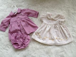 Lot of 6 9 Month Reborn Baby Girl Dresses 2 Pieces Ralph Lauren and BT Kids