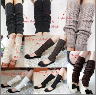 1 Pair Fashion Women Lady Elastic Winter Warmer Knit Legging Knee High Sock Leg