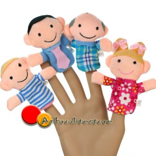 6 People Family Finger Puppets Fancy Educational Toy Set Boy Girl Kids Gift