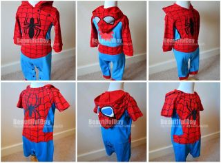 ★baby Boy Funky Spiderman Fancy Dress Romper Suit ★ Party ★christening ★6 24M★