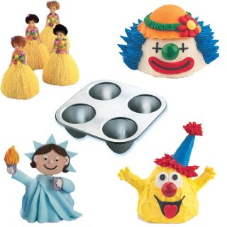 Wilton Mini Wonder Mold Cake Pan Party Treats Doll Pick