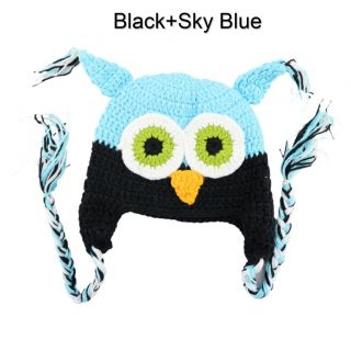 Fashion Cute Baby Boy Girl Toddler Owls Knit Crochet Hat Beanie Cap Keep Warm