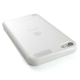 White Clear Hard Gel Hybrid TPU Candy Case Cover Apple iPod Touch 5 5g Accessory