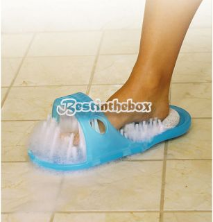 Easy Feet Foot Scrubber Brush Massager Clean Bathroom Health Exfoliates Blue Hot