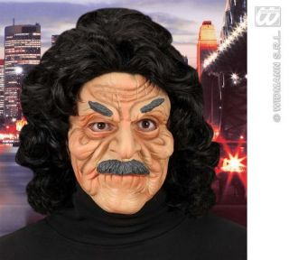 Scary Old Man Face Mask Ron Jeremy Halloween Fancy Dress