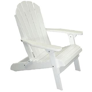 Weather Resistant Trex Material White Adirondack Folding Chair Heavy Duty