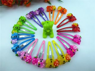 50pcs Mixed Colors Girl Baby Toddler Kid Favour Dancing Hair Clips for Kids