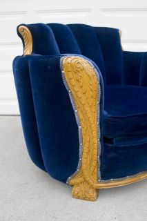 1920s 1930s Art Deco Carved Claw Foot Arm Chair Round Tub Barrel Lounge Club
