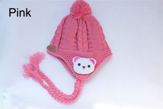 Lovely Cute Teddy Bear Baby Child Winter Knit Hippie Earflap Hat New Photograph