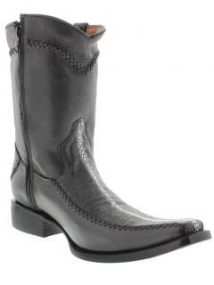 Mens Black Stingray Dress Cowboy Boots Western Rodeo Exotic Zipper Dance Star