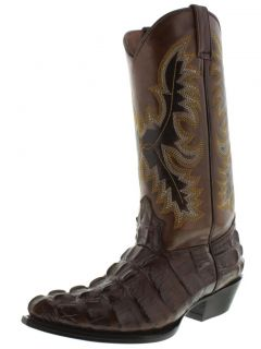 Women's Ladies Crocodile Alligator Big Tail Leather Cowboy Boots Western Rodeo