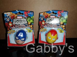 Lot of Iron Man Captain America Egg Hide Find Toy Marvel Super Hero Squad