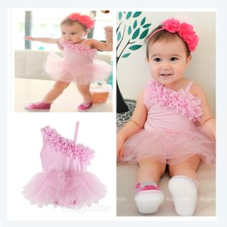 Baby Girl Ruffle Tutu Princess Dress Vest Romper Causal Cotton Comfortable New