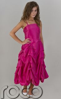 Cheap Prom Dresses Girls Bridesmaid Wedding Cerise Party Dress Age 2 14 Years
