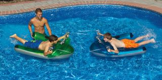 "Manta Ray Dual Squirter Set Pool Floating Toy and Lounge Chair 58 75"" L x 41"" W"