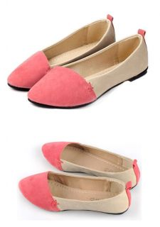 Ladies Comfy Two Tones Colors Flat Shoes Womens Ballerina Dolly Pumps