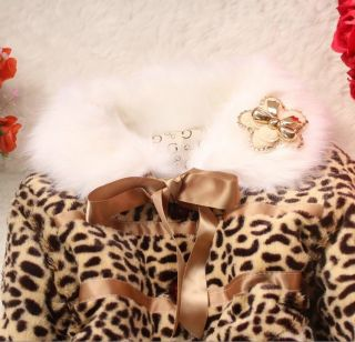 Baby Toddlers Girls Faux Fur Leopard Coat Kids Winter Warm Jacket Snowsuit