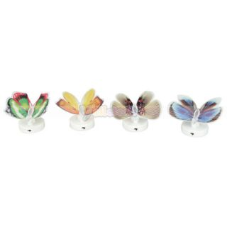 New 7 Color Changing Fiber Optic Flashing LED Butterfly Bar Party Light Lamp