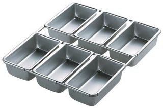 Wilton Aluminum Mini Bread Loaf Cake Pan New