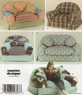 Simplicity 4382 Sewing Pattern Childs Stuffed Arm Chair Cute Kids Armchair Sofa