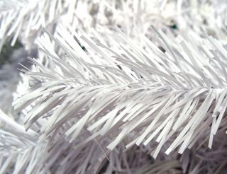 7 5' Pre Lit Crystal White Christmas Tree Clear Lights