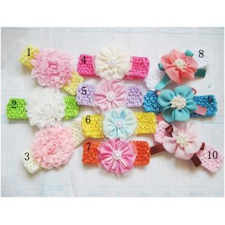 10pcs Baby Girls Lace Flower Headbands Hairbands Bow Headwear Photo Prop Lots