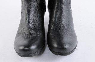 Womens Black Leather Boots 8.5 New