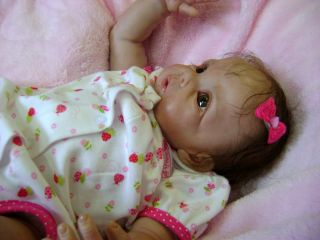 Beautiful Reborn Baby Doll Chrissy by Elly Knoops Sold Out Vintage Sculpt