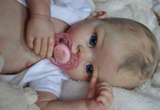 Alla's Babies Beautiful Reborn Baby Doll Amelie Linda Murray Painted Hair