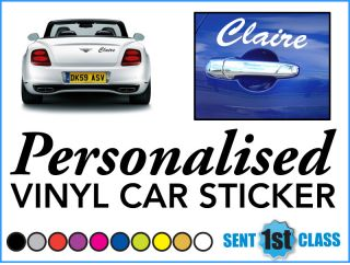 'Personalised Hello Kitty' Vinyl Car Laptop Sticker Choice of 5 Font Styles