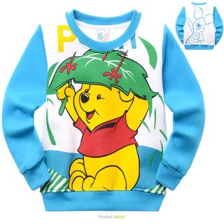 2 8Yrs Toddler Kids Boy Girl Winnie The Pool Long Sleeve Fleece T Shirt HDF8091
