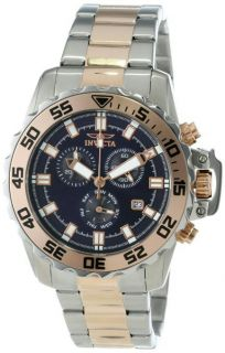 Invicta Men's 13629 Pro Diver Chronograph Blue Two Tone Stainless Steel Watch