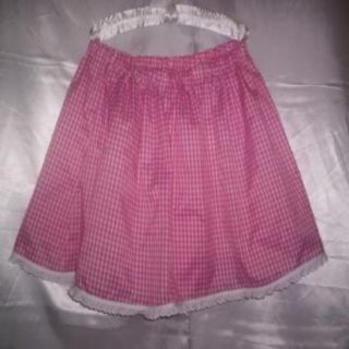 Custom Made Feminine Adult Sissy Womens Mens TV CD Sexy Pink Gingham Mini Skirt