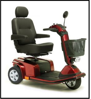 New Mega Motion MM4001DX Endeavor x Red Electric 3 Wheel Power Chair Scooter