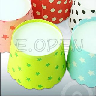 50pcs Spots Cake Baking Paper Cup Cupcake Muffin Cases Liners Wedding Home Party