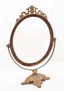 Antique French Bronze Art Nouveau Picture Mirror Frame