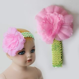 Baby Kids Girls Flower Hair Band Princess Headdress Rose Flower Cotton Headband