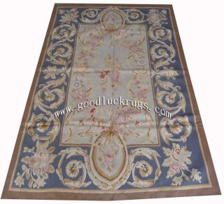 4'x6' Hand Woven Wool French Aubusson Flat Weave Rug Brand New