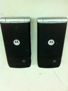 Motorola W385 Flip Camera Cellphones Qty 2 Burgundy