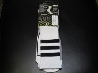New 1 Pair Men's Adidas Team Speed ClimaLite Formotion Crew Socks Size XL White