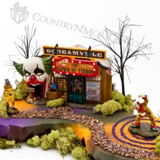 The Clown House of Terror and Accessory Display Set Department 56 Halloween Dept
